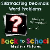 Color By Number Subtracting Decimals Word Problems Worksheets Mystery Pictures