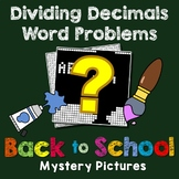 Back to School Dividing Decimals Word Problems