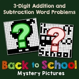 Word Problems 3-Digit Addition And Subtraction Coloring Worksheet Back To School