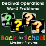 All Operations With Decimals Word Problems, 5th 6th Grade Math Coloring Sheet
