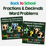 Back to School Fraction and Decimals Word Problems