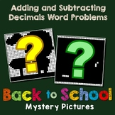 Color By Number Decimal Word Problems Adding And Subtracting Mystery Pictures