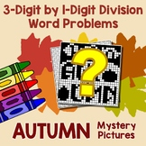 Story Problems Division Worksheets, Dividing 3-Digit Numbers Mystery Pictures