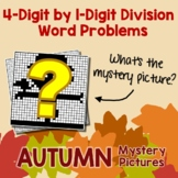 Long Division Word Problems Task Cards, Fall Math Activities 5th Grade 4th Grade