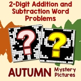 Fall 2-Digit Addition and Subtraction Word Problems