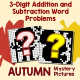 October Coloring Math Worksheets Fall Addition And Subtraction Story Problems