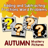 Color By Math Fall Fractions Activity Word Problem Addition Subtraction Fraction