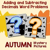 Fall Adding and Subtracting Decimals Word Problems
