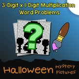 Halloween 3-Digit by 1-Digit Multiplication Word Problems