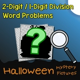 Halloween 2-Digit by 1-Digit Division Word Problems