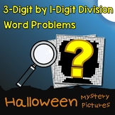 Math Color By Number Division Halloween Word Problems 3rd Grade Mystery Picture