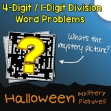 Halloween 4-Digit by 1-Digit Division Word Problems
