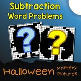 Math Coloring Pages Halloween Subtraction Word Problems Mystery Picture Activity