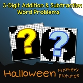 Mystery Math Halloween Word Problems Addition And Subtraction Coloring Worksheet