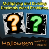 Math Puzzles Halloween Multiplication And Division Decimal Word Problems