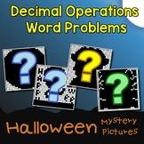 October Coloring Activity 6th Grade Math Halloween Decimal Word Problems