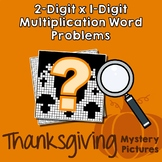 Thanksgiving 2-Digit by 1-Digit Multiplication Word Problems