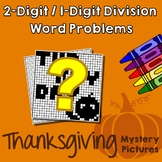 Thanksgiving 2-Digit by 1-Digit Division Word Problems