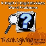 Thanksgiving 4-Digit by 1-Digit Division Word Problems