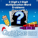 Christmas 3-Digit by 1-Digit Multiplication Word Problems