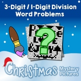 Christmas 3-Digit by 1-Digit Division Word Problems