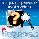 Christmas 4-Digit by 1-Digit Division Word Problems