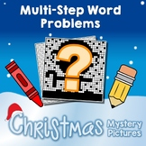 2-Step Christmas Word Problem Activities, December Math Coloring Worksheets