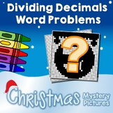 Dividing Decimals Christmas, Word Problems Division With Decimals Coloring Pages