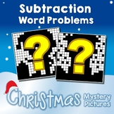 Subtraction Color By Number Christmas Subtraction Story Problems Worksheets