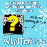 Winter 3-Digit by 1-Digit Multiplication Word Problems