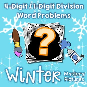 Long Division Word Problems Winter Math Color By Code Sheets, Mystery Pictures