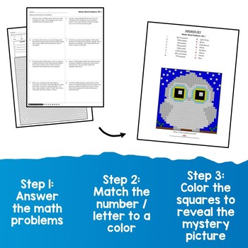 Math Coloring Pages Winter Word Problems Multiplication And Division Worksheets