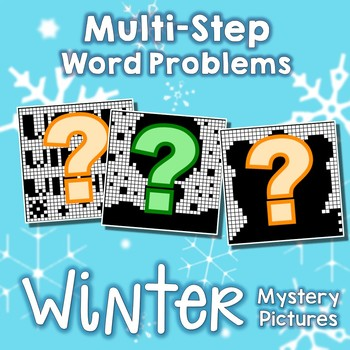 Fun Coloring Pages For Winter, 2-Step Word Problems Activity Mystery Pictures