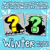 Multiplication & Division Word Problems With Decimals Winter Coloring Pages Math