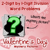 Valentine's Day 2-Digit by 1-Digit Division Word Problems