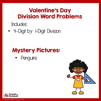Valentines Day Division 4th Grade, Valentine Long Division Coloring Worksheets