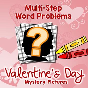 Valentine Day Multi-Step Word Problem, Challenge Math Word Problem 4th 5th Grade
