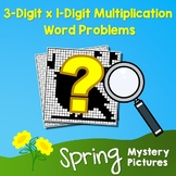 Spring 3-Digit by 1-Digit Multiplication Word Problems