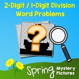 Spring 2-Digit by 1-Digit Division Word Problems