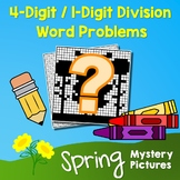 Spring 4-Digit by 1-Digit Division Word Problems