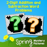 Spring 2-Digit Addition and Subtraction Word Problems