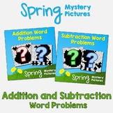 Spring Color By Number Addition & Subtraction Problem, Spring Puzzle Math Sheets