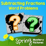 Spring Subtracting Fractions Word Problems