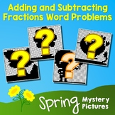 Spring Adding and Subtracting Fractions Word Problems