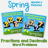 Spring Fractions and Decimals Word Problems