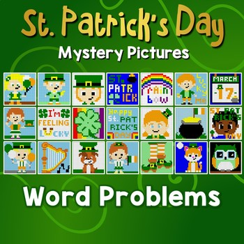 Math Problems St. Patricks Day Project, Story Problems All Operations Coloring