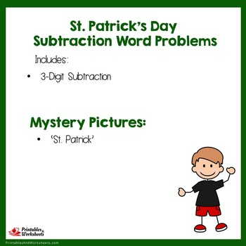 St Patricks Day Math Coloring 3-Digit Subtraction Problems For 2nd Grade To 3rd