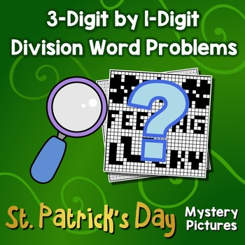 Long Division Worksheets 3-Digit By 1-Digit, St Patrick Math Project Coloring