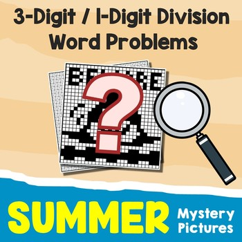 Introduction To Long Division Color By Number Summer Hidden Pictures Math Sheets