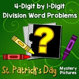 St. Patrick's Day 4-Digit by 1-Digit Division Word Problems